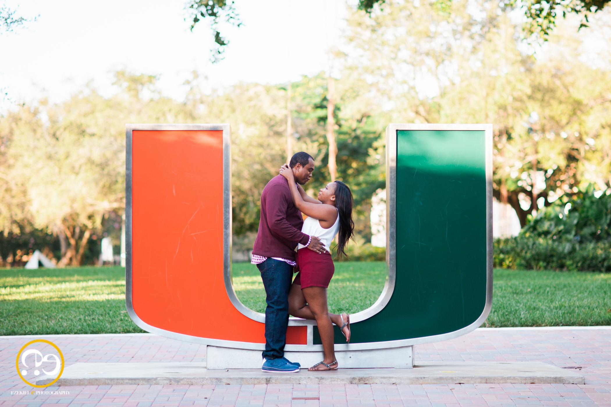university of miami engagement photos