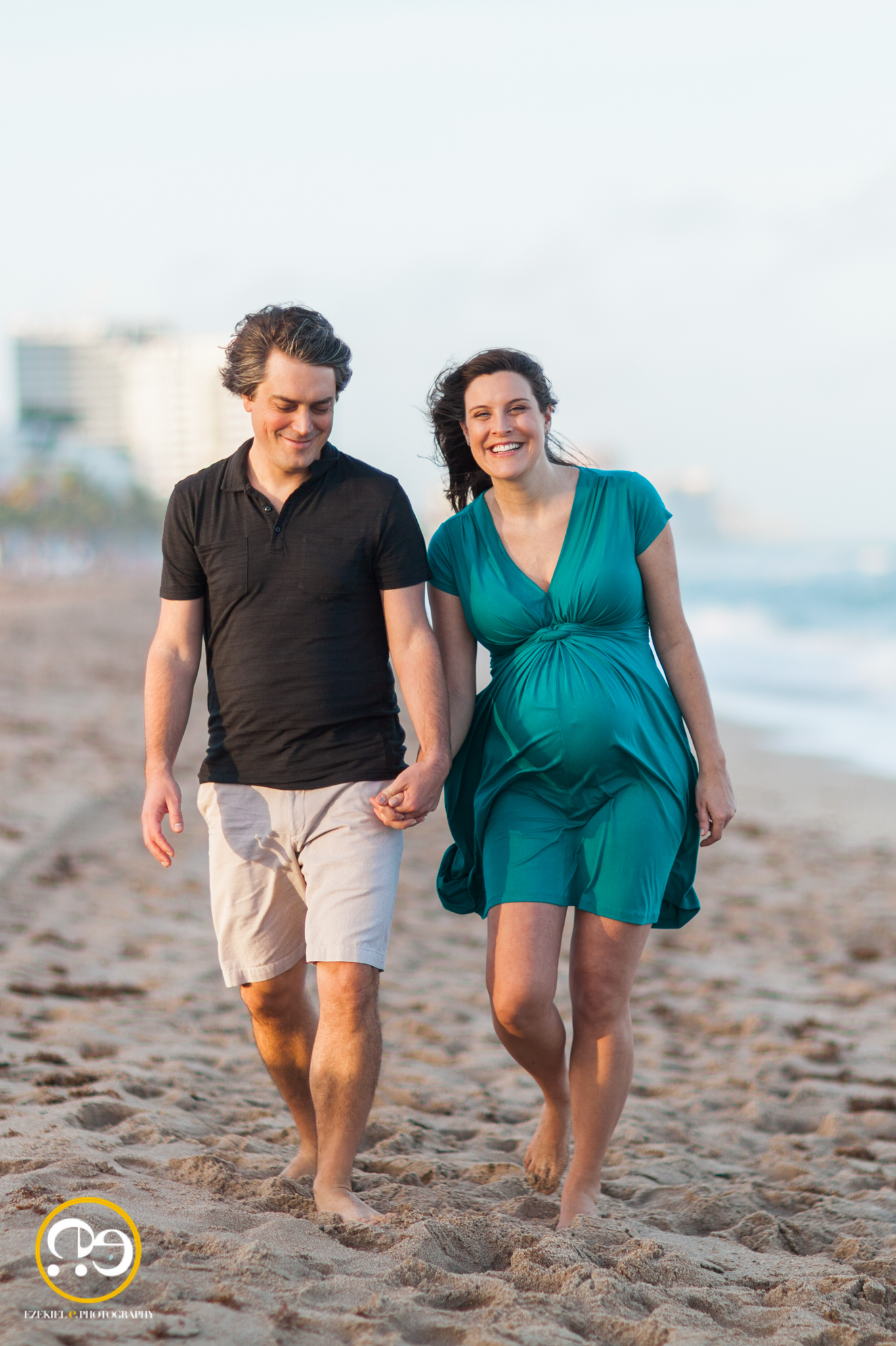 ft lauderdale maternity beach maternity session