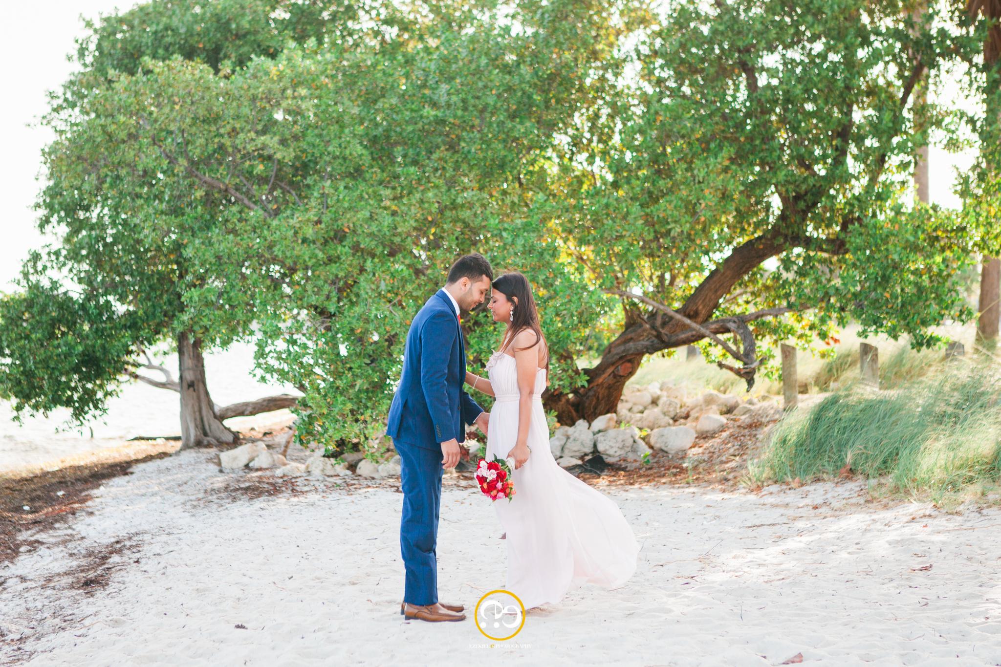 Key Biscayne beach wedding photography