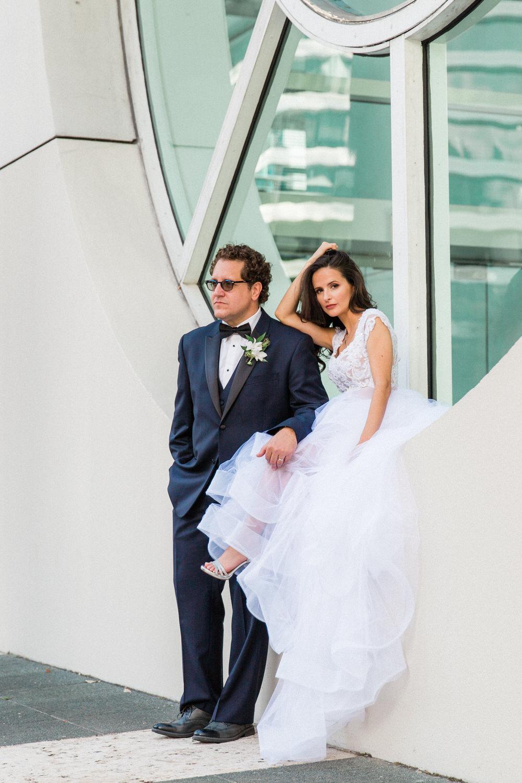 urban wedding photos brickell miami 801 building