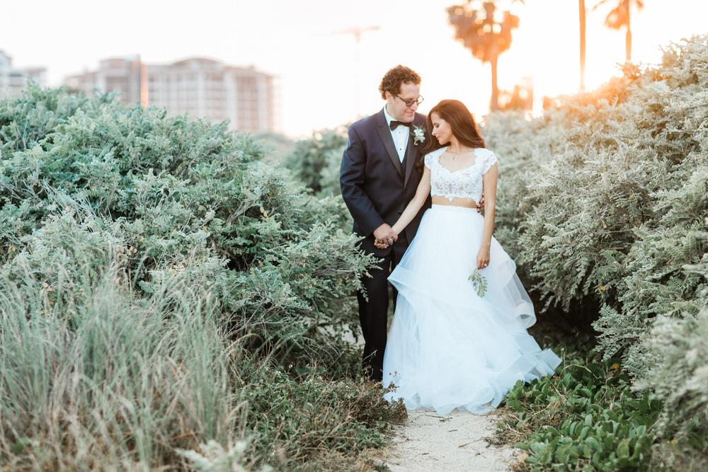 luxurious urban wedding photos miami beach