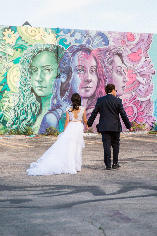urban wedding photos wynwood graffiti miami