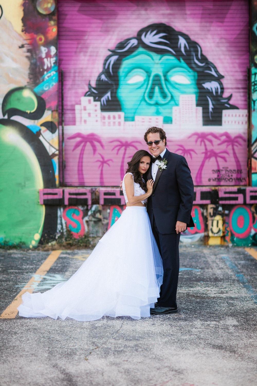 urban wedding photos wynwood miami