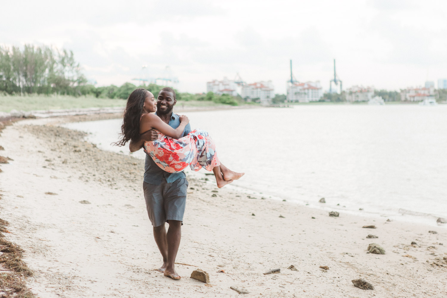 Virginia key engagement photography