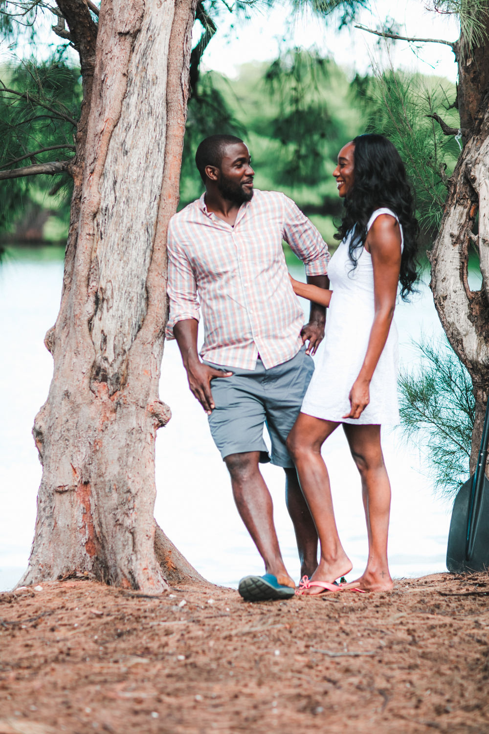 Virginia key engagement phototography