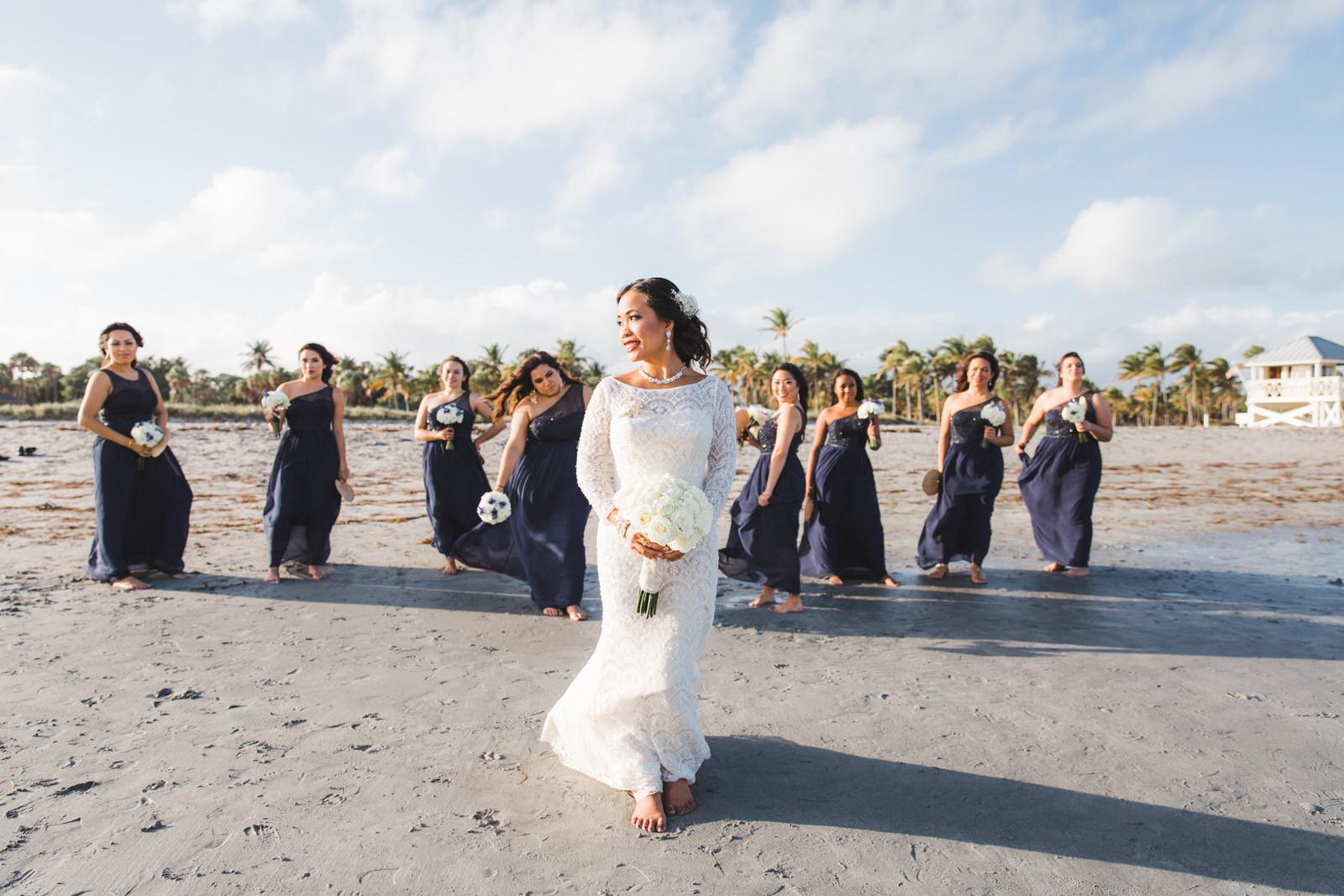 crandon beach key biscayne wedding photos