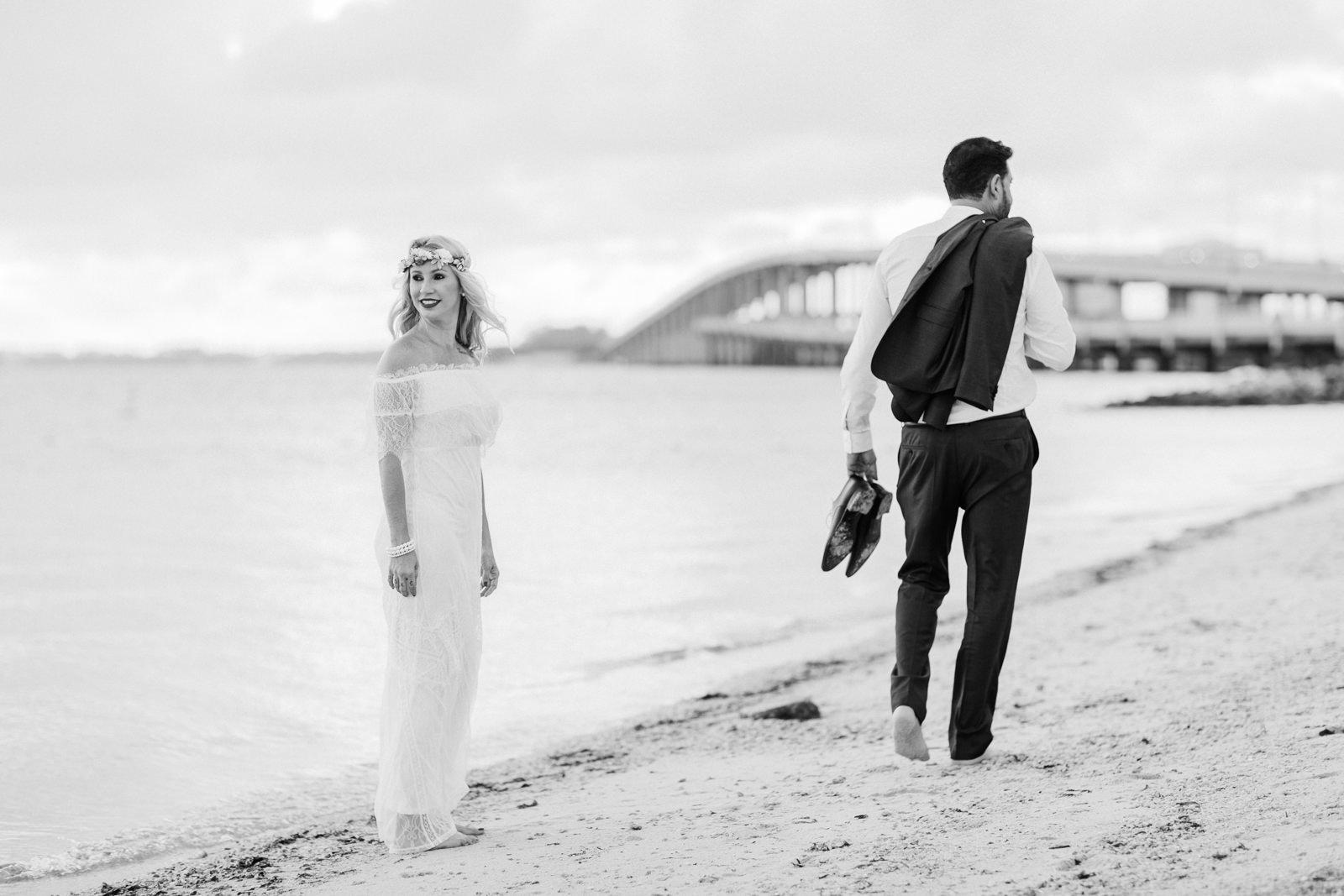 key rickenbacker causeway wedding photos