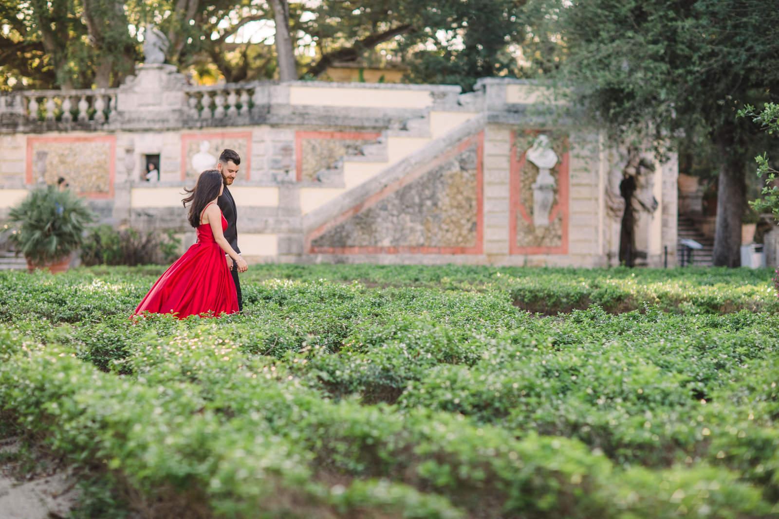 lux engagement photos vizcaya miami