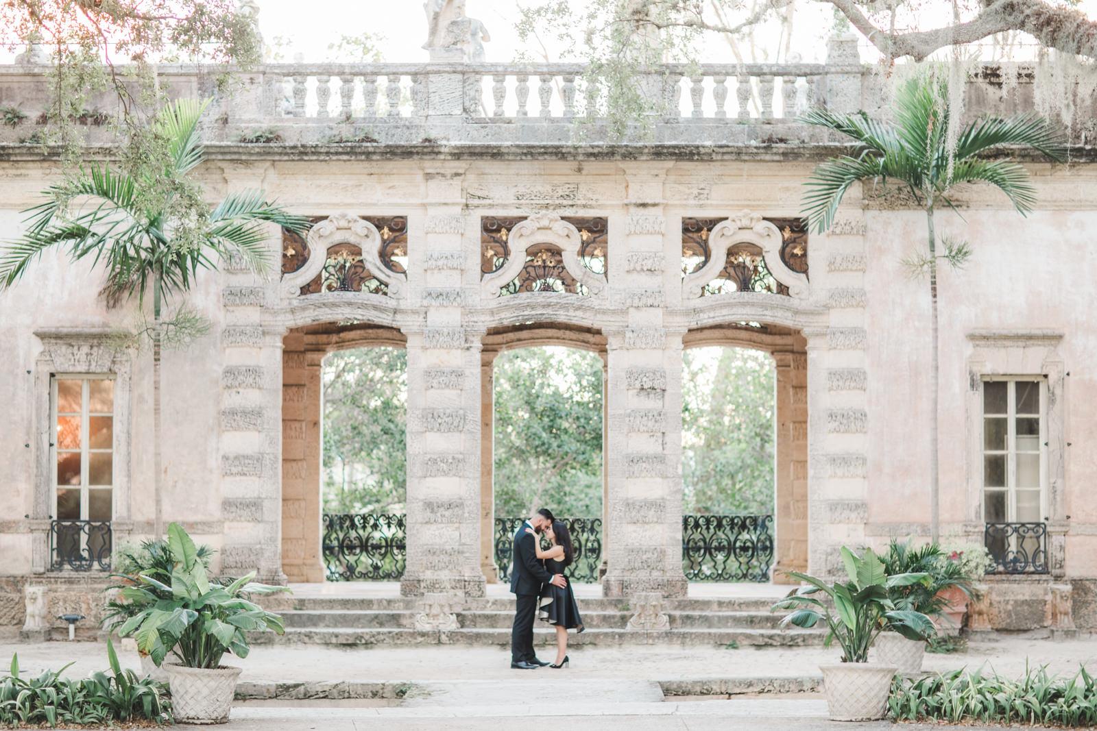 lux engagement photo shoot vizcaya gardens