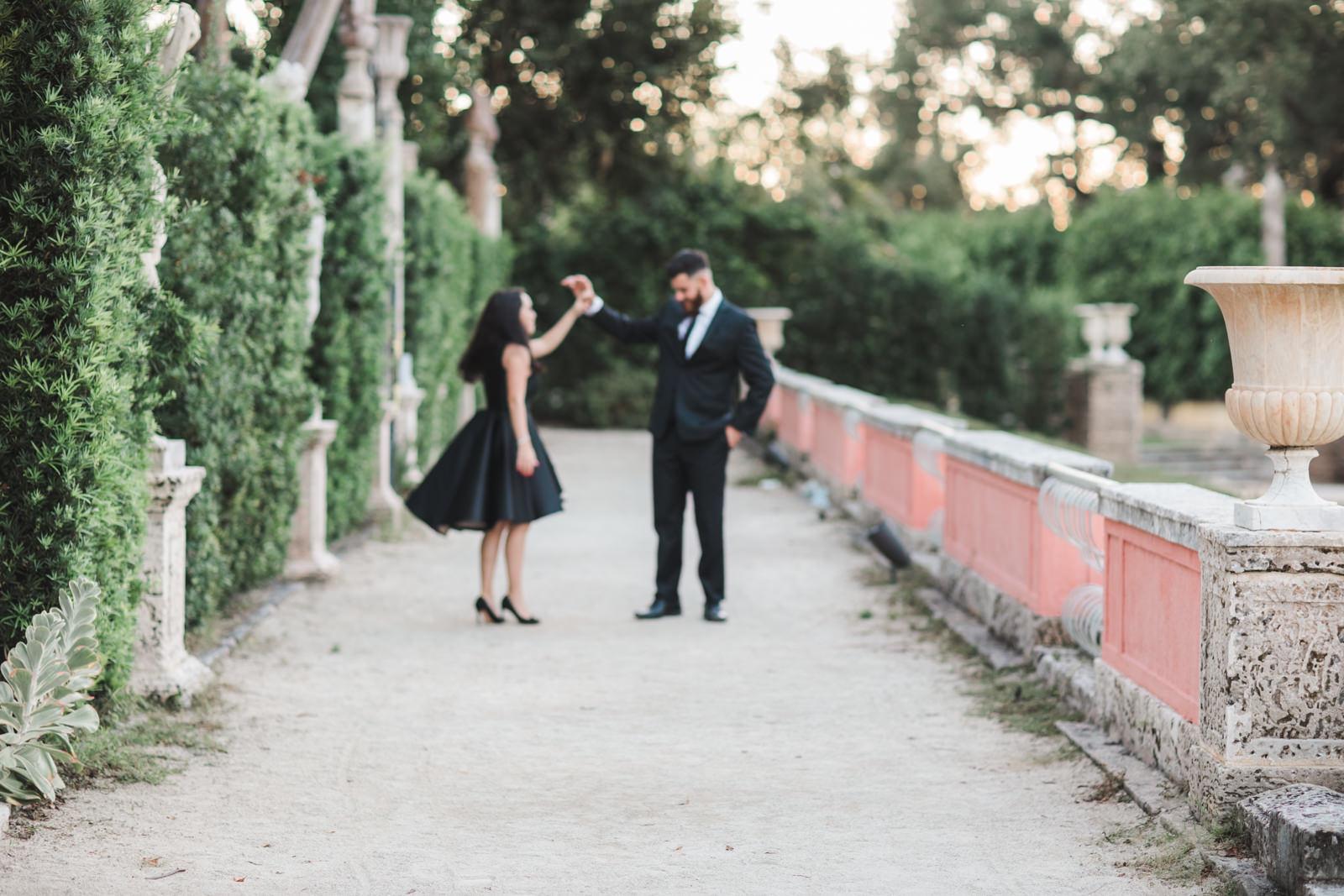 lux wedding photos vizcaya gardens