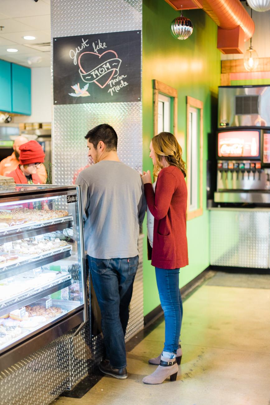 hurtz donuts engagement photos