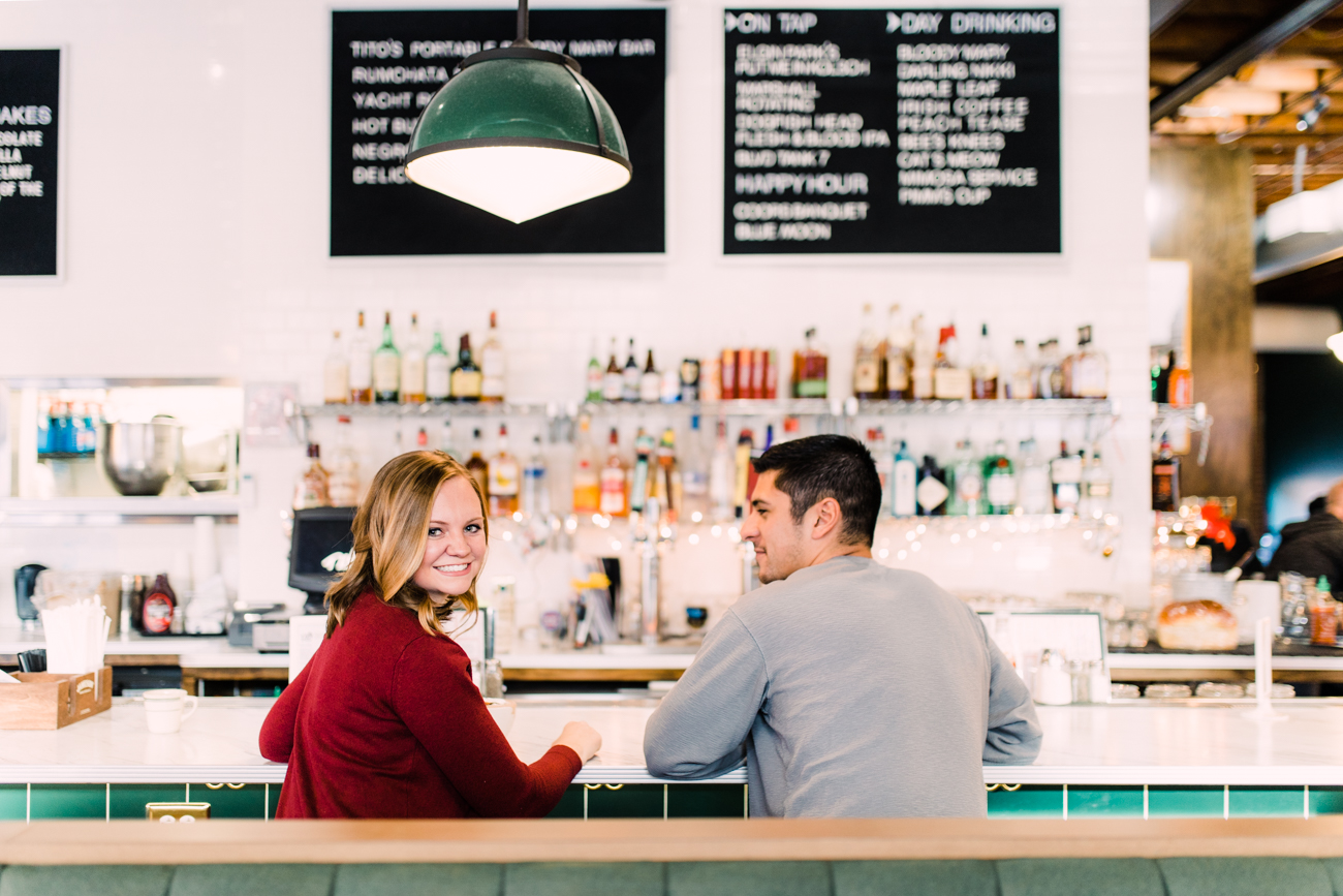 dilly diner engagement photos